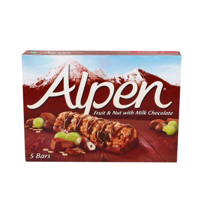 Alpen Cereal Bars Fruit & Nut With Chocolate