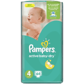 Pampers Baby Diaper Dry Mega Size No. 4 - 64 Counts