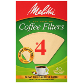Melitta Coffee Filters # 4 - 40 Natural Brown Cone Filters