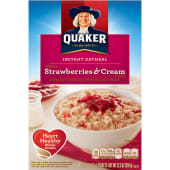 Quaker Instant Oatmeal Strawberries & Cream Cereal 350g