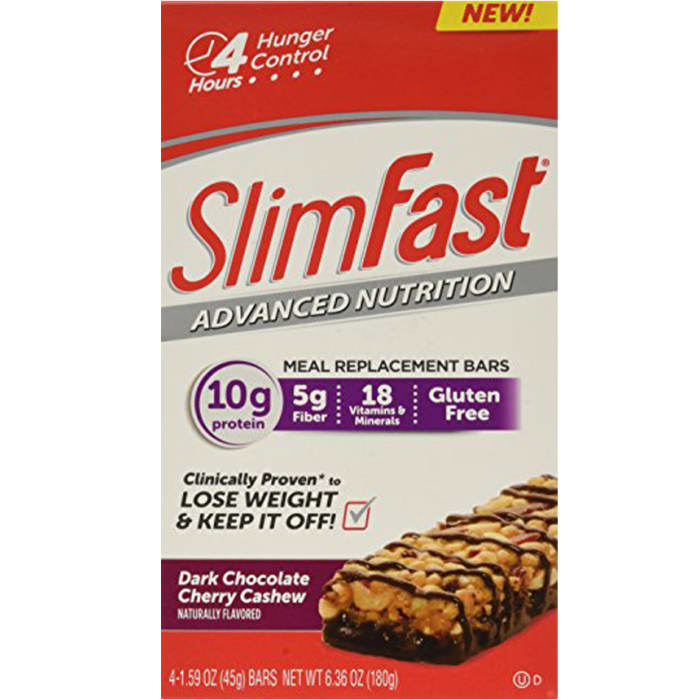 Slim Fast Advanced Nutrition Meal Replacement Dark Chocolate Cherry Bars