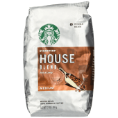 Starbucks House Blend Medium Whole Bean Coffee