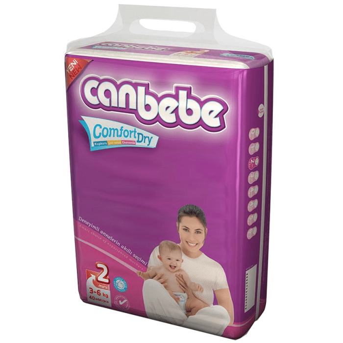 Canbebe Mini Diapers Size 2 - 40 Pieces