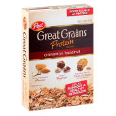Post Cereals Great Grains Protein Cinnamon Hazelnut