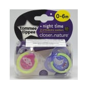 Tommee Tippee Night Time Soother 0-6m 2 Pack