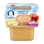 Gerber Baby Food Blended Fruits with Oatmeal 226 Grams