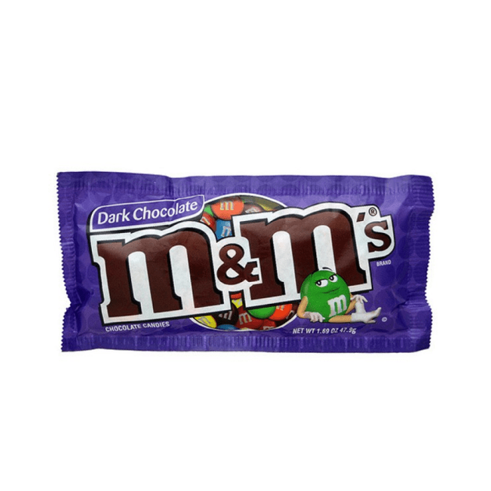 M&Ms Dark Chocolate Candies