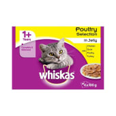 Whiskas 1+ Poultry Selection in Jelly Cat Food 4 x 100g