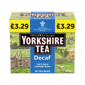 Yorkshire Tea 80 Tea Bags Decaf 250g