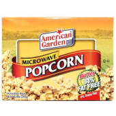 American Garden  Micro Wave Pop Corn Butter 94% Fat Free