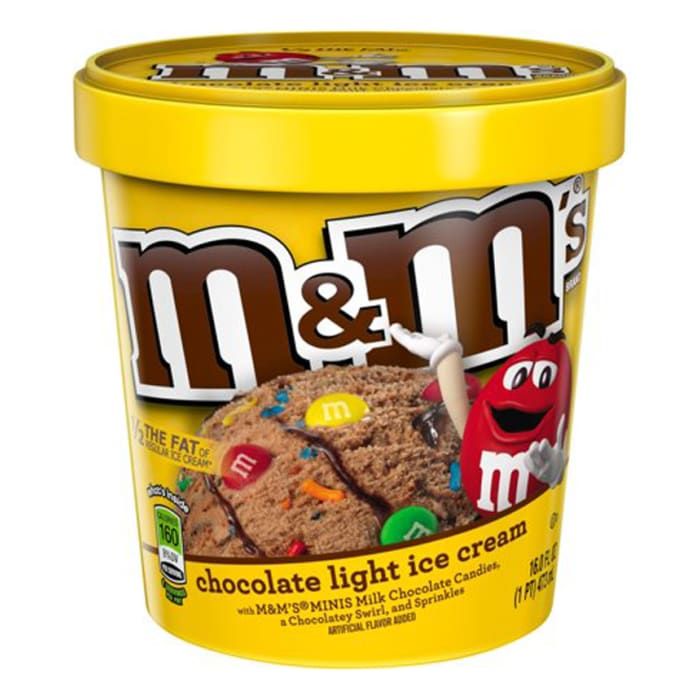 M&ms Chocolate Light Ice Cream