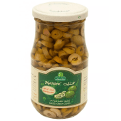 Mukhtarat Sliced Green Olives with Olive Oil