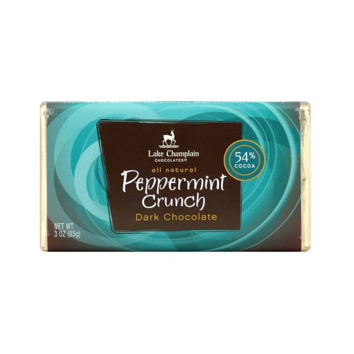 Lake Champlain Chocolate 54%,Peppermint Crunch Bar