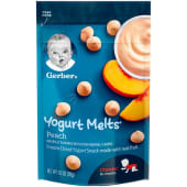 Gerber Yogurt Melts Peach Freeze-Dried Snack Crawler 8+ Months 28 Grams