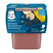 Gerber Banana Blackberry Blueberry Baby Pudding