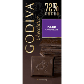Godiva Dark Chocolate 72% Cacao 100 Grams