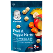 Gerber Fruit & Veggie Melts Truly Tropical Blend 28g