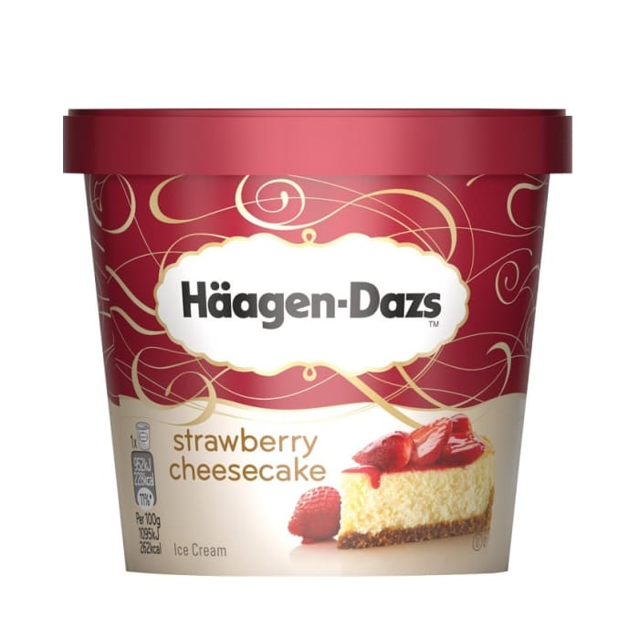 Haagen Dazs Ice Cream Strawberry Cheesecake