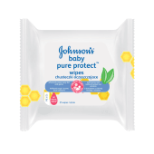 Johnson's Pure Protect Kids Wipes with Nigella Seed Extract & Honey