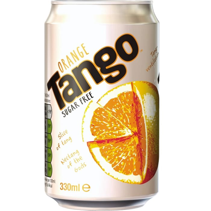 Tango Soft Drink Orange Sugar Free Can