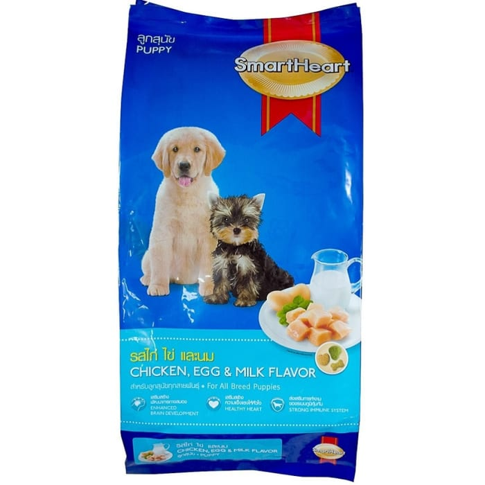 Smart Heart Dog Food Puppy Chicken Egg Milk Flavor