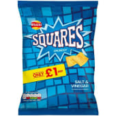 Walkers Squares Salt & Vinegar 28g