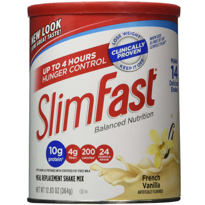 Slim Fast French Vanilla Milk Powder