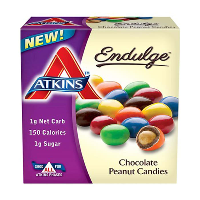 Atkins Endulge Treat 5 Packs Bar Chocolate Peanut Candies 170g
