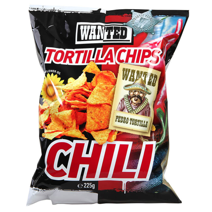Wanted Tortilla Chips With Chilli 225g