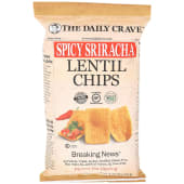 The Daily Crave Spicy Sriracha Lentil Chips 120 Grams