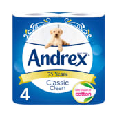 Andrex Toilet Tissue Classic Clean 4-Roll