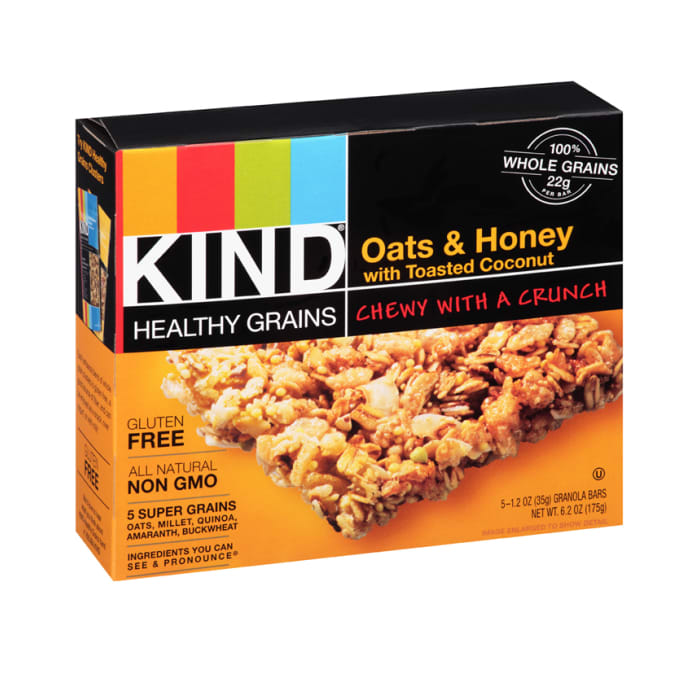 KIND Healthy Grains Granola Bars, Oats & Honey with Toasted Coconut