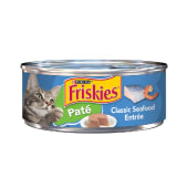Friskies Paté Classic Seafood Entrée Cat Food 156 Grams