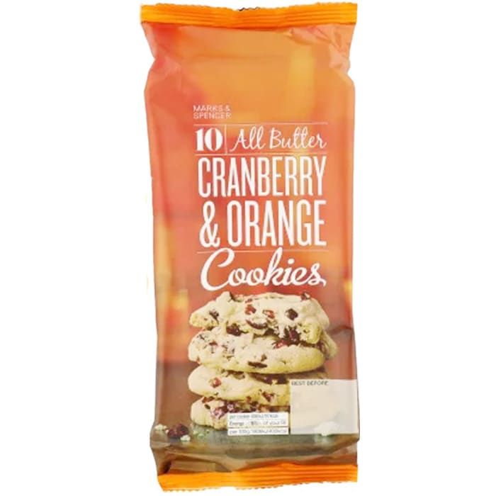 Marks & Spencer Cranberry & Orange Cookies 225g