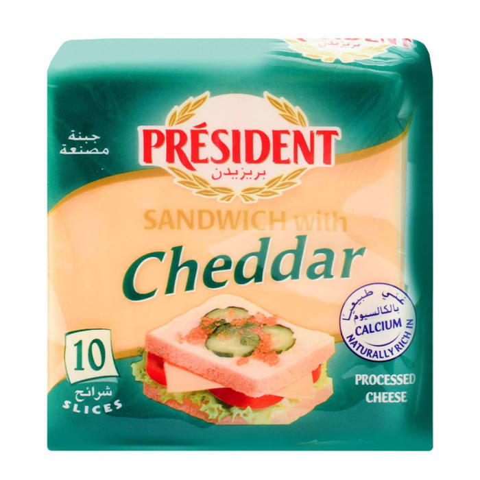 President Cheese Slices Sandwich With Cheddar