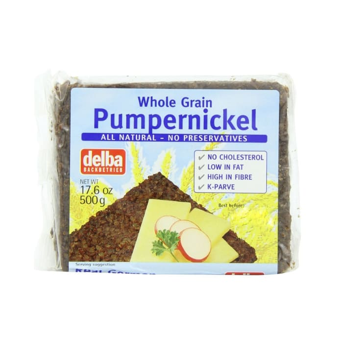 Delba Whole Grain German Bread Pumpernickel