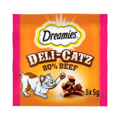 Dreamies Deli Catz Cat Treat Beef 5x25g