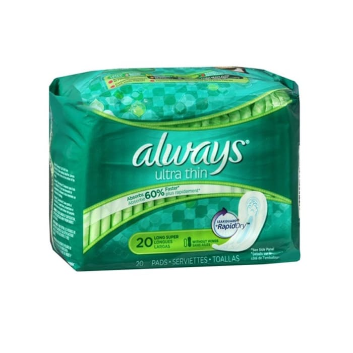 Always Ultra Thin Long Super Lady Pads