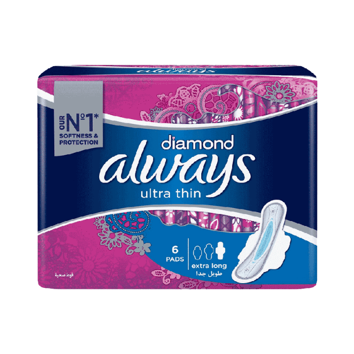 Always Diamond Extra Long Ultra Thin 6 Pieces
