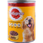 Pedigree Dog Food Beef In Jelly Tin 400g