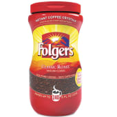 Folgers Classic Roast Instant Coffee Crystals Jar