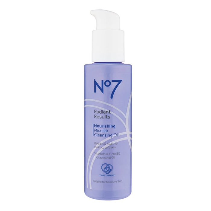 No7 Radiant Results Nourishing Micellar Cleansing Oil 150ml