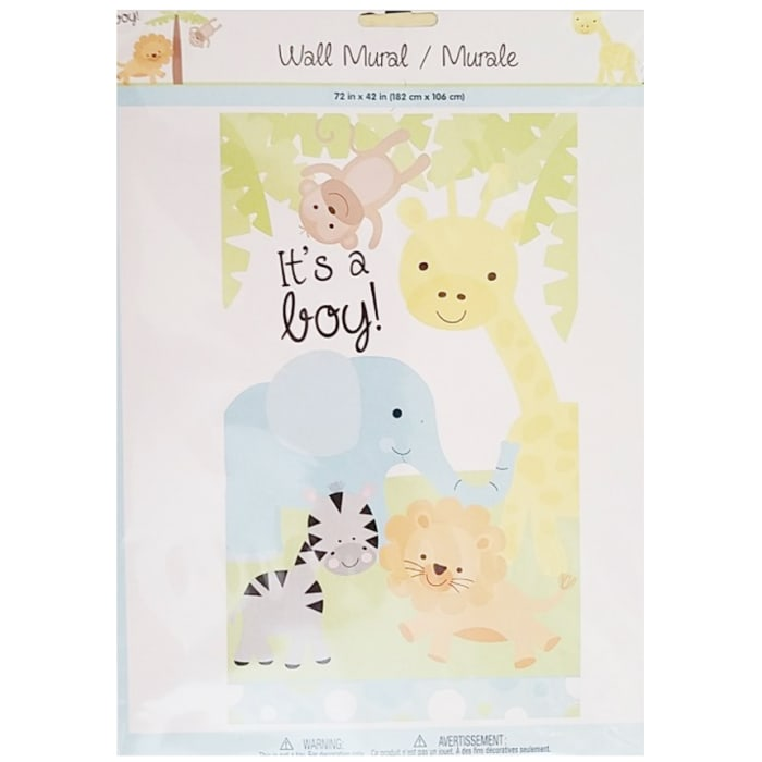 Baby Shower Decoration Wall Mural Plastic 72x42