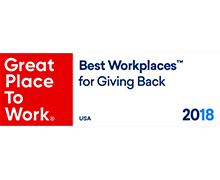Best Workplaces for Giving Back Badge