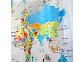 What Color Curtains Go With Yellow Walls World Map Fabric Shower