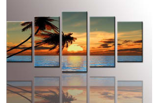 youkuart palm tree sunset best office art