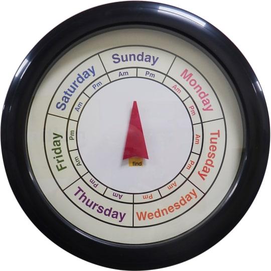 Dementia friendly Analogue Day Clock