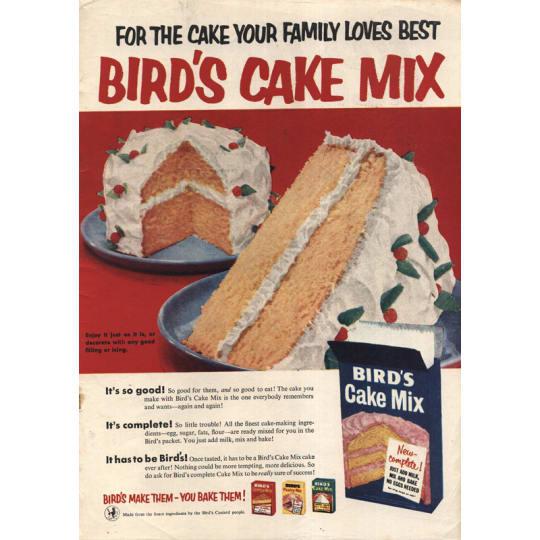 Dementia friendly Birds Cake Mix 2 - A4 (210 x 297mm)