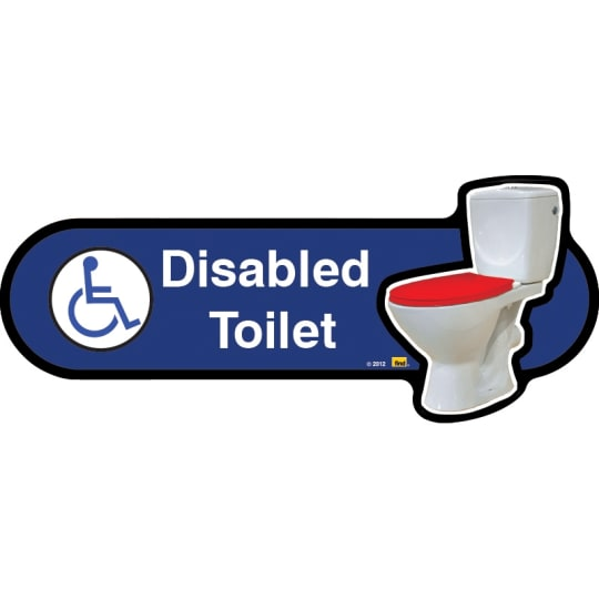 Disabled toilet sign with symbol  - Dementia Signage for Hospitals