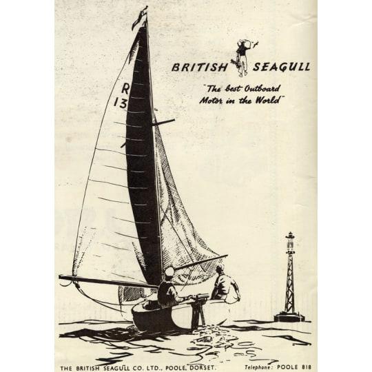 Dementia friendly British Seagull Sailboat - A4 (210 x 297mm)